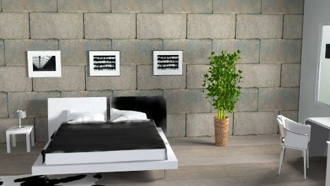Stone bedroom - Minimal - Bedroom - by magicboy18