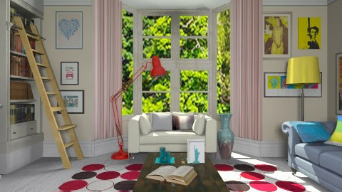Retro mood - Retro - Living room  - by Laurika