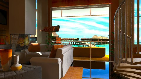 Orange - Modern - Living room  - by Puppy Chow