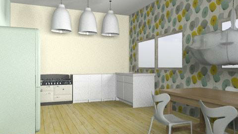 kitchen  - Retro - Kitchen  - by harrietw123