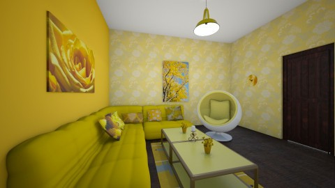 Yellow Living Room - Classic - Living room  - by Love2Create