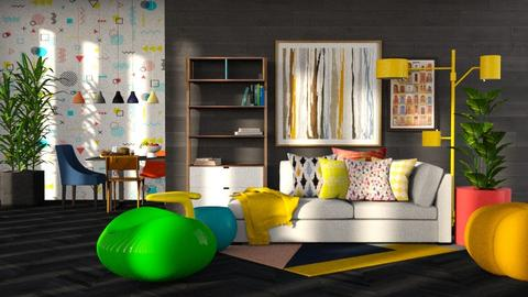 playful living room  - Modern - Living room  - by RimaNina