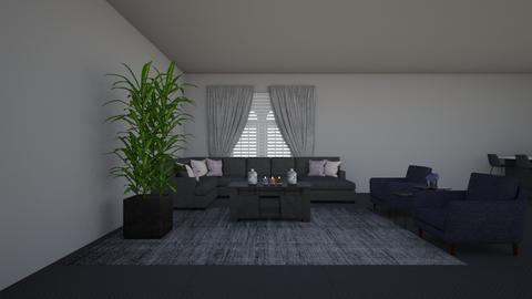 Dark Living Room - Living room  - by cagla_deniz_