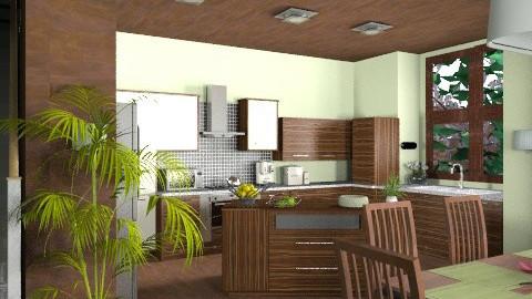 Applewood kitchen - Modern - Kitchen  - by KittiFarkas