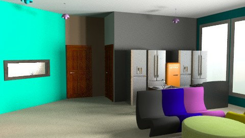 Big Brother Living Room - Retro - Living room  - by designerrich123