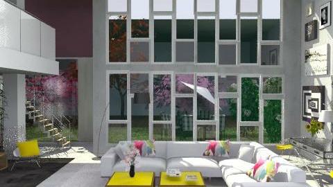 concrete loft - Modern - Living room  - by M_Lane