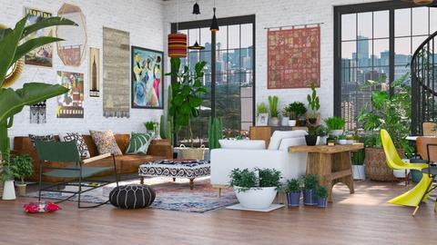 Boho living - Living room  - by Charipis home