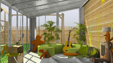 I Love the Outdoors! Kids Room - Kids room  - by lolikawaii