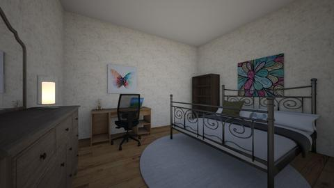 OCs Room  Evelyn Bennet - Modern - Bedroom  - by Daphnizs