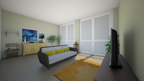 Modern living area - Minimal - Living room  - by MarzzzMelllow