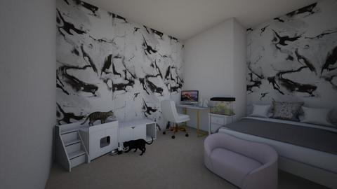 cute aesthetic bedroom - Modern - Bedroom  - by Myroomslivey