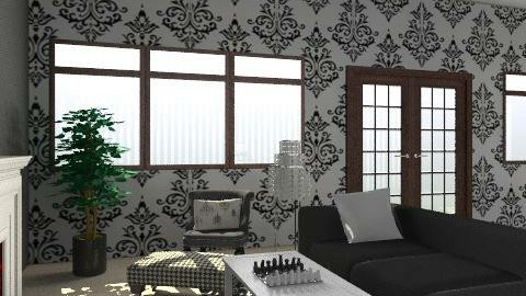 Black and White Living Room - Glamour - Living room  - by obiobi