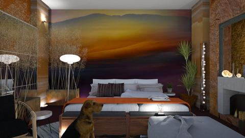 Mural Bedroom - Rustic - Bedroom  - by Sue Bonstra