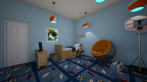 sports fan room  - Eclectic - Bedroom  - by aschaper