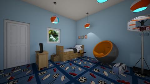 sports fan room  - Eclectic - Bedroom  - by aschaper