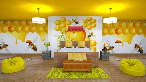 Beehive Inspired Bedroom - Bedroom  - by Jahsoftball_