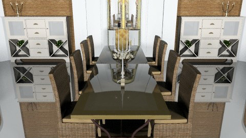 Double dining - Glamour - Dining room  - by mrschicken