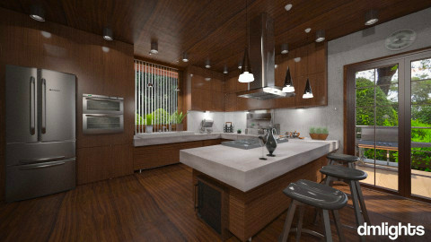 Concreted Wood - Modern - Kitchen  - by Lackew