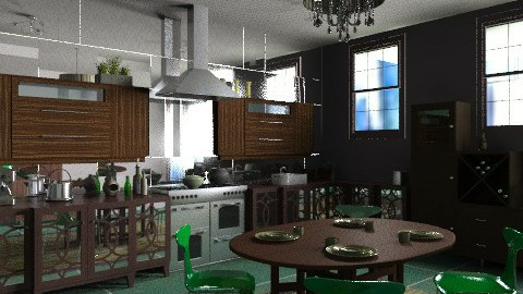 High rise apartment - Eclectic - Kitchen  - by mrschicken