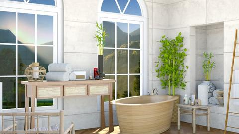 Bamboo Bathroom - Rustic - Bathroom  - by Jana Nedeljkovic