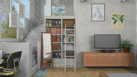 Basement Bedroom - Modern - Bedroom  - by cheyjordan