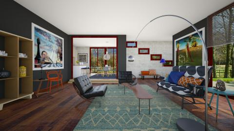 Evergreen  - Modern - Living room  - by janip