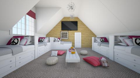 Slumber Party - Feminine - Bedroom  - by nyc17