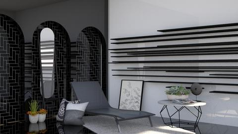 Black and White - Modern - Living room  - by Isaacarchitect