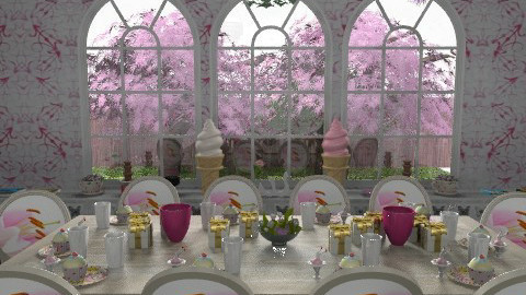 A birthday party for Prissy - Glamour - Dining room  - by alleypea