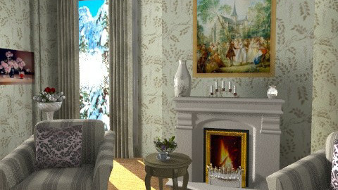 Sitting by the fireplace ....2 - Classic - Living room  - by milyca8
