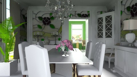 green dining room - Classic - Dining room  - by XValkhan