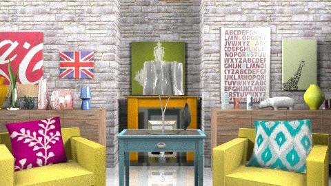 Vintage Living Room 1 - Vintage - Living room  - by Katherine100