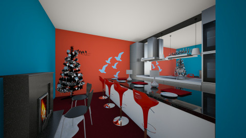 Kitchen for christmas - Kitchen - by ery123