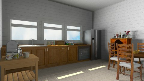farmhouse kitchen - Country - Kitchen  - by martinabb
