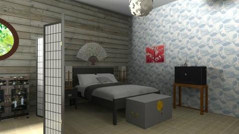 oriental bedroom  - Bedroom - by bethcot
