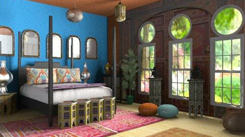 moroccan nights - Classic - Bedroom  - by xpigeonx