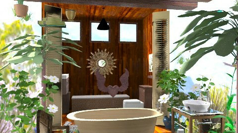 Sufi Powder Room - Eclectic - Bathroom  - by missjojo