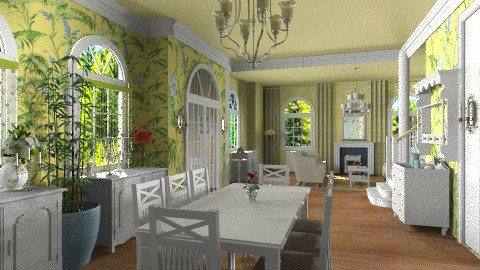 Cottage Style - Vintage - Dining room  - by Bibiche