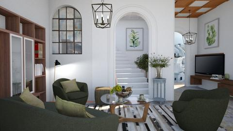 M_ Greek room rethought - Living room  - by milyca8