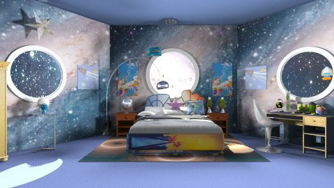 Space ship bedroom - Eclectic - Bedroom  - by devonsia