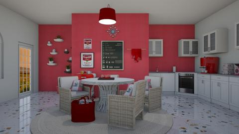 Snap Red - Kitchen  - by emivim