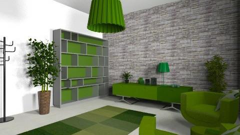 Bedroom with livingroom - Retro - Living room  - by Fabianna Viridi