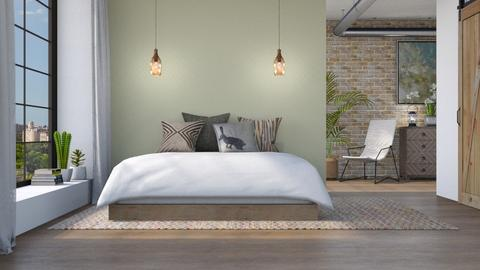 Natural Industrial - Bedroom  - by LB1981