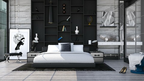 M_Wall - Modern - Bedroom  - by milyca8