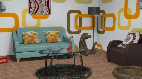 60's living with 70's - Living room  - by KRISTELS atelier space