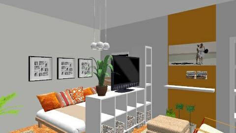 nappalihalo_narancs - Minimal - Bedroom - by suliadri