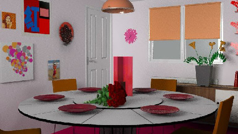 galleria rouge - Dining Room  - by WaxButterfly