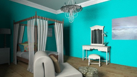 chelses beach room - Vintage - Bedroom  - by melina Montes