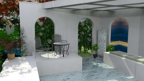 Poolside Retreat - Modern - Garden  - by PomBom