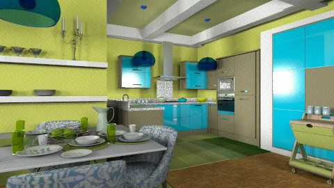 Lime  Gourmet Kitchen - Eclectic - Living room - by wiljun